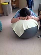 Pouco antes de pedir a epidural